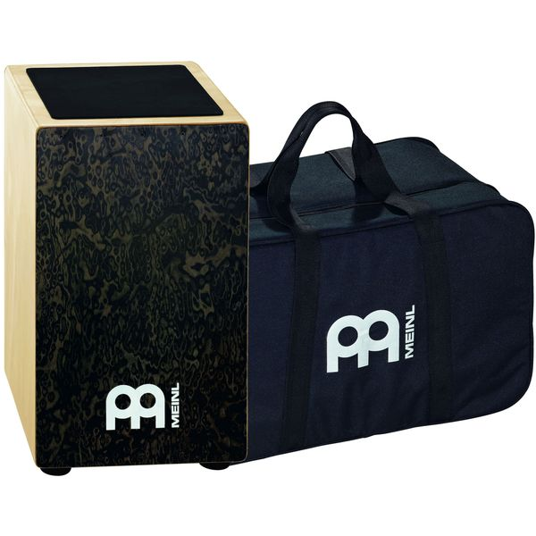 Meinl Percussion Black Makah Burl String Cajon with Bag