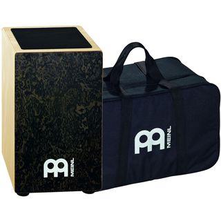 Meinl Percussion Black Makah Burl String Cajon with Bag