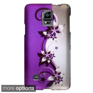 INSTEN Flowers Rubberized Hard PC Plastic Snap-on Phone Case Cover For Samsung Galaxy Note 4