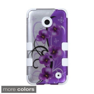 INSTEN Tuff Leopard Dual Layer Hybrid Rubberized Hard PC/ Silicone Phone Case Cover For Nokia Lumia 630/ 635