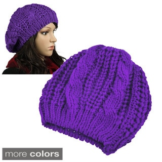 Zodaca Unisex Winter Knit Crochet Beanie