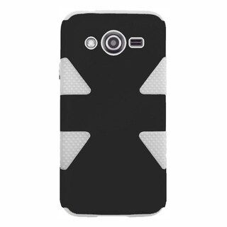 INSTEN Dynamic Dual Layer Hybrid Rubberized Hard PC/ Silicone Phone Case Cover For Samsung Galaxy Avant