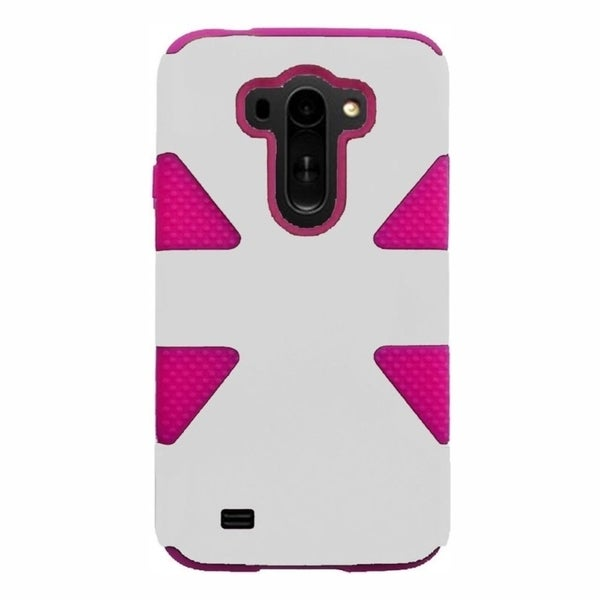INSTEN Dual Layer Hybrid Rubberized Hard PC Plastic PC/ Silicone Phone Case Cover For LG G VISTA
