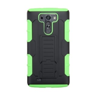 INSTEN Dual Layer Hybrid Stand Rubberized Hard PC Plastic PC/ Silicone Phone Case Cover For LG G VISTA