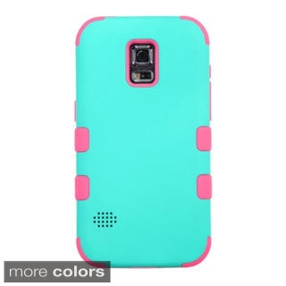 INSTEN Tuff Dual Layer Hybrid Rubberized Hard PC/ Silicone Phone Case Cover For Samsung Galaxy S5 Active SM-G870A