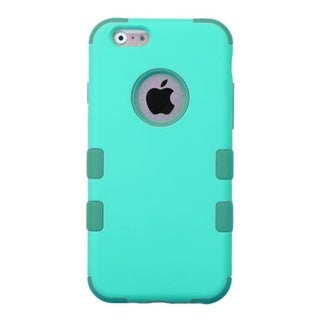 INSTEN Teal/ Green Tuff Dual Layer Hybrid Rubberized Hard PC/ Silicone Phone Case Cover For Apple iPhone 6 4.7-inch