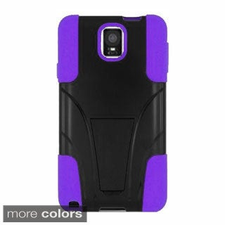 INSTEN Dual Layer Hybrid Stand Rubberized Hard PC/ Silicone Phone Case Cover For Samsung Galaxy Note 4