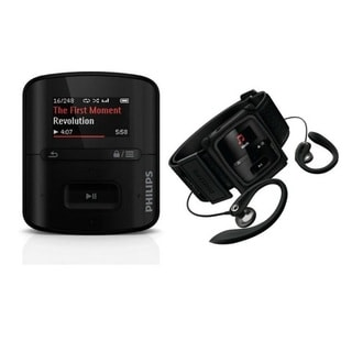 Philips SA4RGA02KFS/37 GoGEAR Raga Sport Pack Black MP3 Player