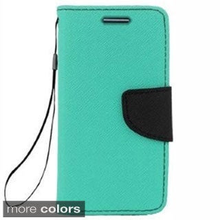 INSTEN Folio Flip Leather Phone Case Cover For LG G2/ G2 D800 AT&T/ G2 D801 T-Mobile/ G2 LS980 Sprint/ G2 VS980 Verizon