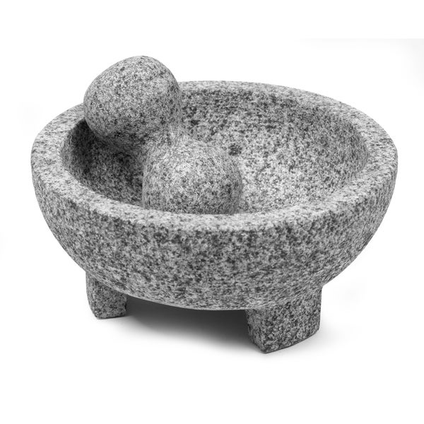 IMUSA 8-inch Granite Molcajete Mortar and Pestle Set