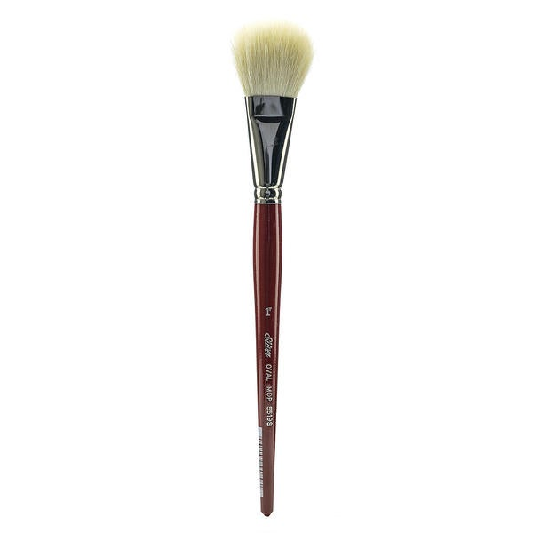Silver Brush Series White Round/Oval Mop Brushes