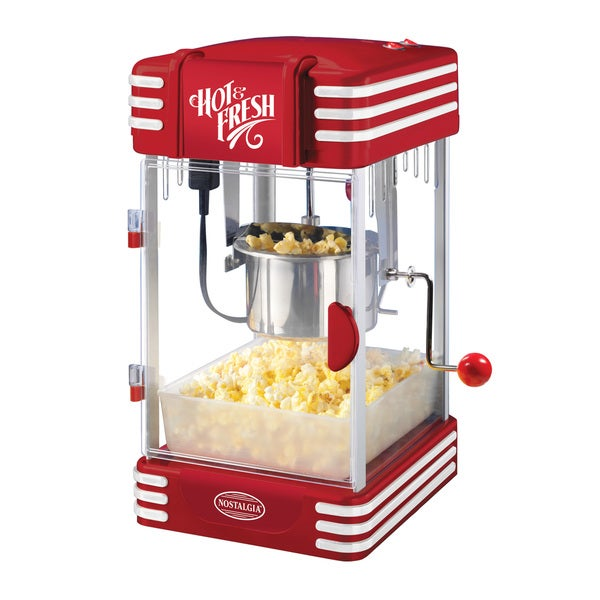 Nostalgia Electrics Red Kettle Popcorn Popper