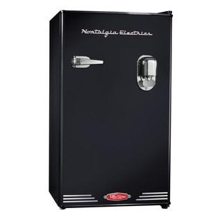 Nostalgia Electrics Retro Series Black 3.0-cubic Foot Compact Dispensing Refrigerator