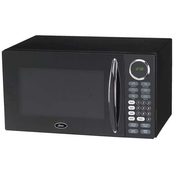 Oster Black 0 9 Cubic Foot Digital Microwave Oven
