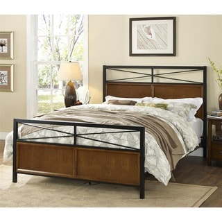 Dorel Living Harmony Full/ Queen Wood and Metal Bed