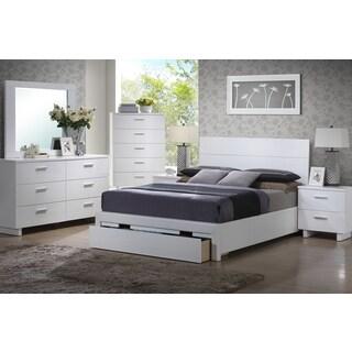 Poundex Stavern 4-piece Matching Nightstand, Mirror & Dresser Bedroom Set