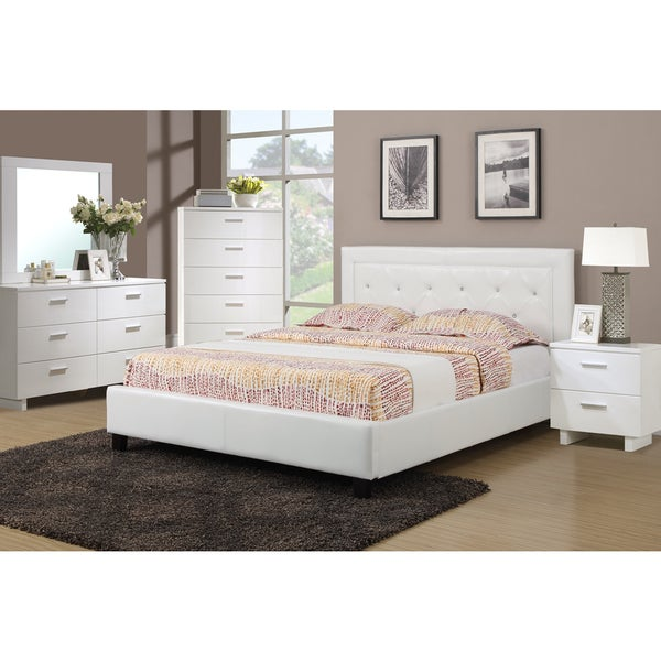 Podolinec 4 piece bedroom set with matching nightstand for Queen bed frame and dresser set