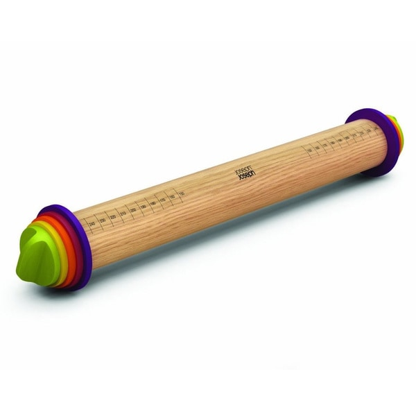 16.5-inch Adjustable Wood Rolling Pin