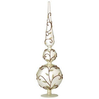 Sage & Co. 21-inch Glass Vine Pattern Finial