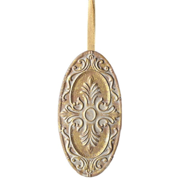 Sage & Co. Pressed Tim Medallion Ornament (Pack 4)