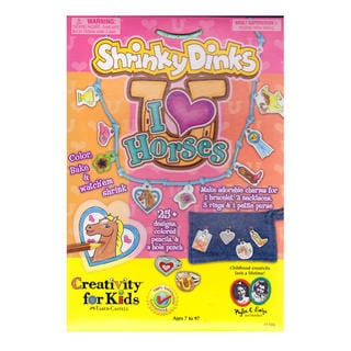 Creativity For Kids Shrinky Dinks I Love Horses