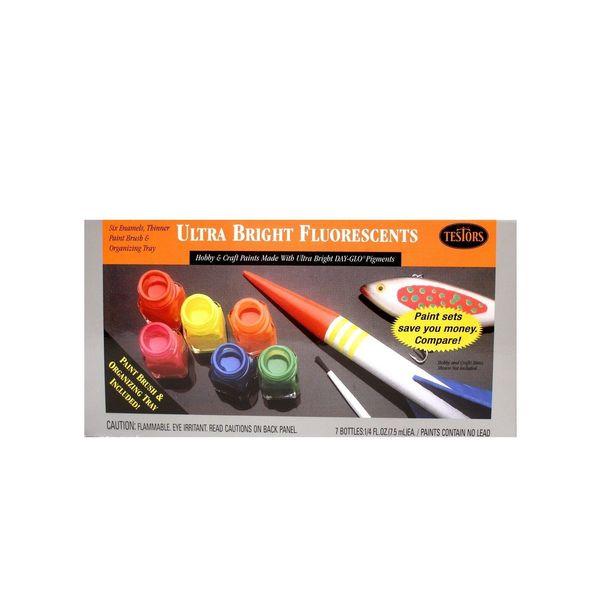 Testors Ultra Bright Fluorescent Paint Kit (Pack of 2)