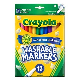 Crayola Washable Markers -- Assorted Colors (Pack of 3)