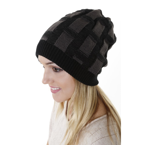 Hadari Women's Casual Folded Knit Beanie