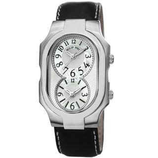 Philip Stein Men's 2-NFMOP-CSTB 'Signature' Mother Of Pearl Dial Dual Time Quartz Watch