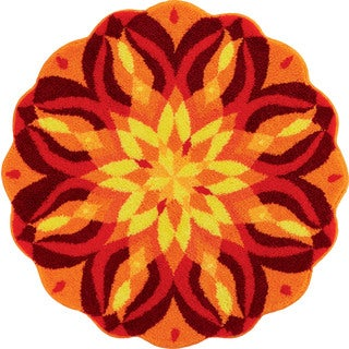 Grund America 'Knoweldge of Self' Sunburst Round Rug