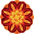 Knoweldge of Self Sunburst Round Rug