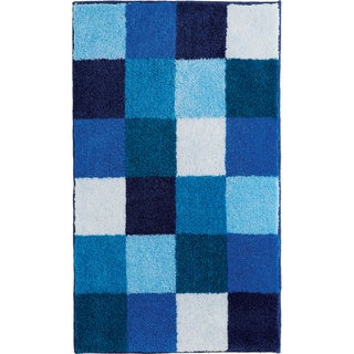 Bona Blue Check Bath Rug