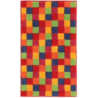 Joker Checkered Multicolor Bath Rug