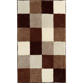 Bona Brown Check Bath Rug