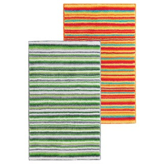 Multicolor Striped Series Orange Bath Rug