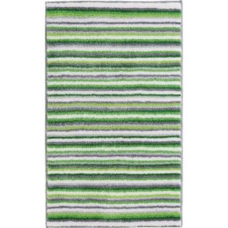 Grund America Striped Green/ Grey Non-slip Bath Rug