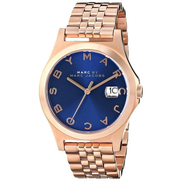 Marc Jacobs MBM3316 The Slim Blue Rose Goldtone Stainless Steel Watch