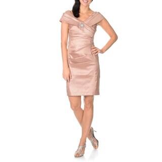 Cachet Women's Tucked Pleat Dress