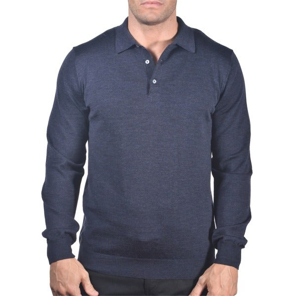 Men's Italian Merino Wool 3-button Polo