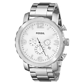 Fossil Men's JR1444 Nate Stainless Steel White Watch