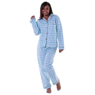 Hadari's Women's Classic Button Up Pajama Set