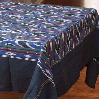 Multi Color Ikat Applique Cotton Table Runner (India)