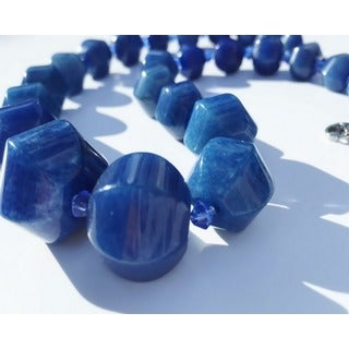 Madame Earth Blue Jade Tower Necklace