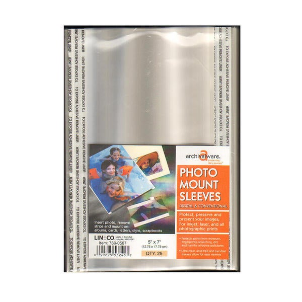 Lineco Photo Mounting Sleeves