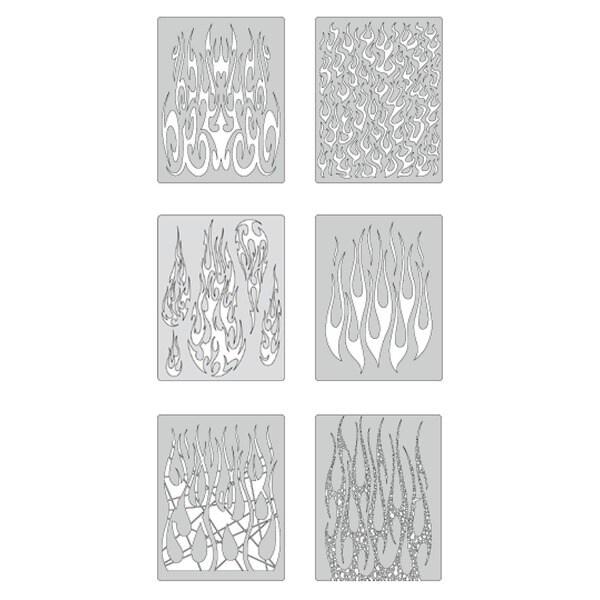 Artool Flame-O-Rama 2 Mini Series Airbrush Templates