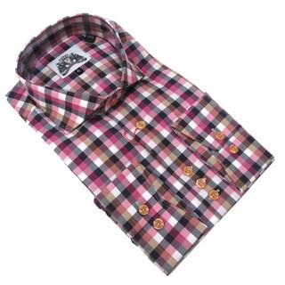 Bogosse Men's Multi Colored Long Sleeve Plaid Button Down Shirt