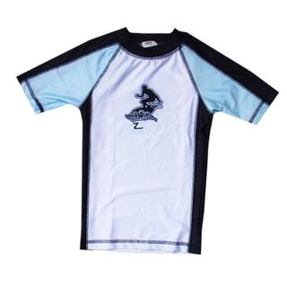 Boys' Azul Swimwear Short Sleeve Blue Combination Rashguard