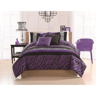 Zebra Stripe 3-Piece Comforter Set