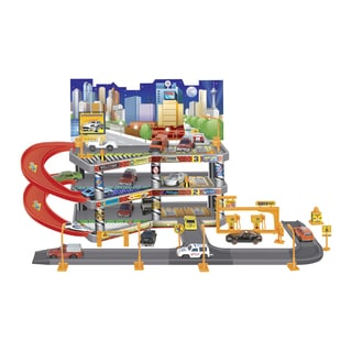Super Garage Toy Car Playset and 3 Vehicles