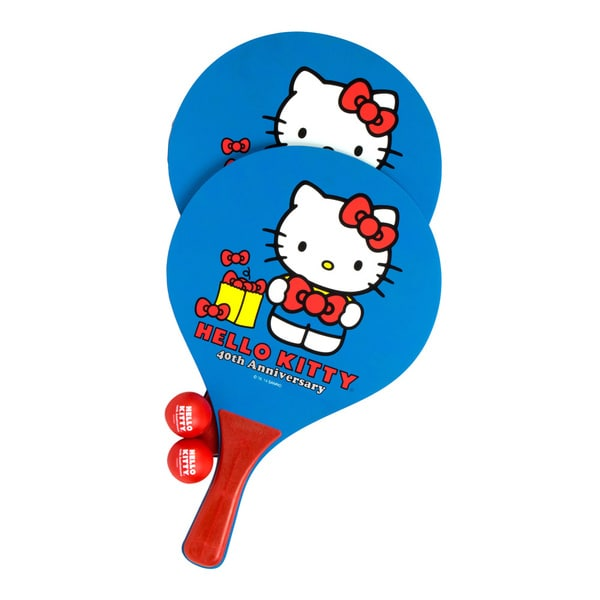 Hello Kitty Sports 40th Anniversary Beach Paddle Ball Set